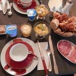 Le petit déjeuner ( bien copieux )