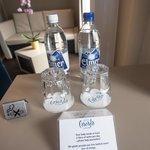 2 free bottles of water