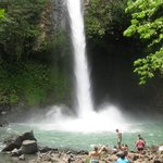 Waterfall by Aerial Volcano