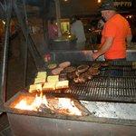 ristorante con griglia ad altalena