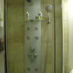 Way too complicated shower in Rm 101, Captains House. Tiny too!