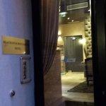 the hotel front door