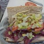 Roast Beef Sub fresh & organic vegtables