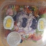 Organic Vegtable Salad with Scoop homemade Chicken Salad