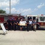 Friends with the PBFD just stopped by for lunch