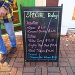 Sidewalk Sign of Daily Specials