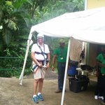 Getting ready for zip line