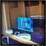 Mirror TVs.  Bathroom outside LL meeting rooms.