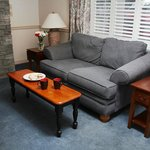 Wine Country Inn location - Queen Suite / Sitting Room with Fireplace
