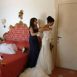 The Brides Room was beautiful, as were all the other rooms in the Villa