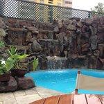 vista parcial piscina