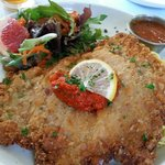The pork schnitzel