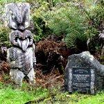 Maori Carving in Mokoia Island