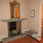 Fireplace in the sitting area