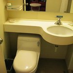 Small, basic and efficient bathroom.