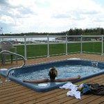 Our hot tub overlooks the Winnipeg River