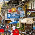 Chokdee on Vientiane's busy Mekong Riverfront street