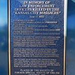 Plaque re Kansas City Massacre