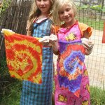 Our very creative young ladies learning how to Tie-Dye in the Kids Creative Craft Workshops!