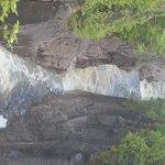Aquasabon falls just east of the hotel.