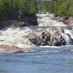 Aquasabon river as it enters Lake Superior