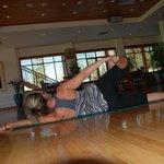 Early morning thai yoga