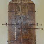 Impressive, secured door in the Castellina