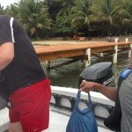 Returning from snorkeling