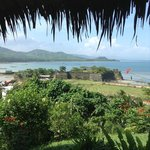 This is the view you get of Fort Isabela from Casa Rosa's dining area.