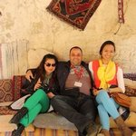 With travel buddy Whe Lorraine along with our extremely nice & cool - Mustafa Gulgen. Taken in t