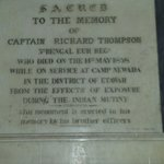 Commeration to Captain Thompson