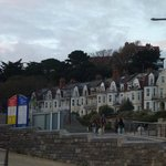 View up to hotel from Boscombe Beach