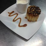 One of our speciality home-made cheesecakes - caramel and nut