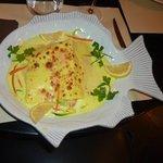 Succulente lasagnes poisson crevettes Noix de St Jacques à la Trattoria rue Gambetta