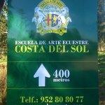 Cartel Escuela de Arte Ecuestre de la Costa del Sol