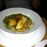 monkfish with butterbeans.