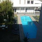 vista della piscina dal terzo piano