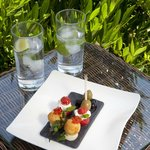 Canapes in the garden