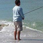 fishing on the beach