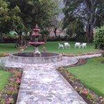 le jardin devant le restaurant