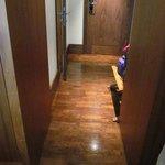 Gorgeous wood floors in standard room entry