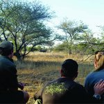 game walk - we tracked rhinos and finally caught up with them!