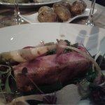 duck, leek, chard, turnip