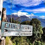 On the way to Chomrong