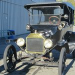 a 1918 Model T car - we had a ride in this!