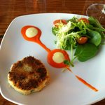 Dungeness Crab Cake Appetizer