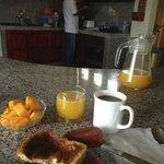 Maestro Luis in the kitchen serving up breakfast.