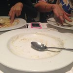 3 empty plates..finger licking good!