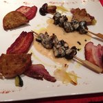Brochettes d'escargot! Really good starter and excellent with the local rillons.