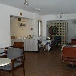 The breakfast lounge on the mezzanine